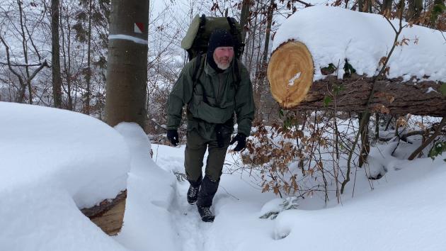 Zimní táboření Radim Sieber bushcraft