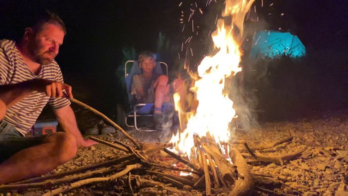 splutí řeky Opavy s dětmi