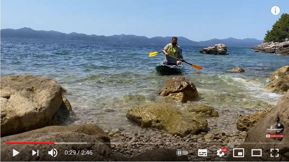 Paddling tramp - pádlování v moři s Pálavou
